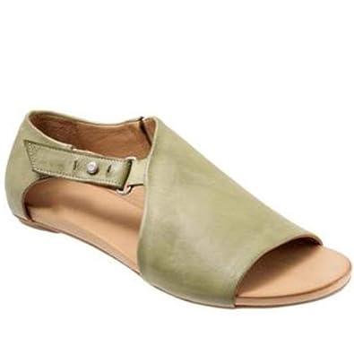 Amazon.com: Sandalias planas con abertura en los dedos del ...
