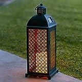 Orientalische / Marokkanische LED Solar Laterne in Schwarz