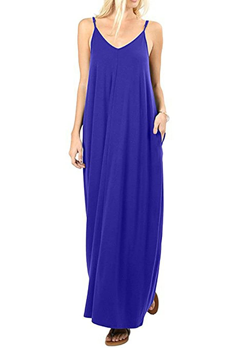 bluee Plain Dress Summer Women Long Dress Solid Sleeveless Sexy Backless Dresses