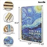 Mazeran B5 Starry Night Spiral Notebook, College