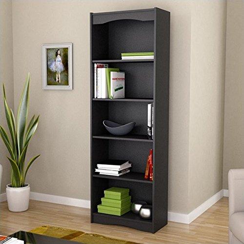 Sonax Hawthorn 72-Inch Tall Bookcase, Midnight Black