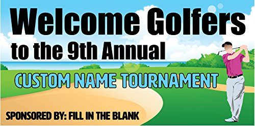 Custom Printed Golf Tournament Banner - Beach (10' x 5') by Reliable Banner Sign Supply & Printing (Image #1)
