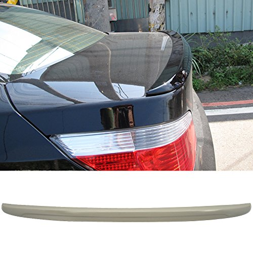 Trunk Spoiler Fits 2004-2010 BMW E60 5-SERIES SEDAN WILL NOT FIT 2DR AND WAGON | M5 Style ABS Rear Deck Lip Wing Bodykits by IKON MOTORSPORTS | 2005 2006 2007 2008 2009 2007 Bmw 5 Series Sedan