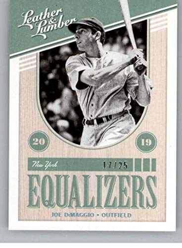 2019 Leather and Lumber Equalizers Holo Silver Baseball #9 Joe DiMaggio SER/25 New York Yankees Official MLBPA Trading Card From Panini