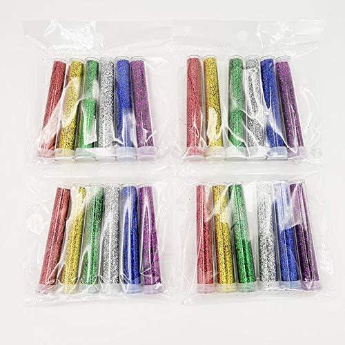 Set di vasetti di Glitter da 6 Pezzi Set di Accessori per Glitter Extra fine Kit di melma Fatta a Mano Fai-da-Te per Artigianato di Scrapbooking /♥ MarinoBIRD