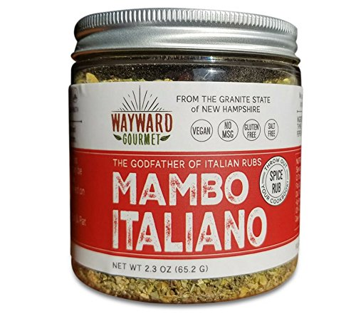 Mambo Italiano Italian Herb Seasoning by Wayward Gourmet - Gourmet Spice Rub for Chicken, Meat, Veggies, Pasta and Pizza - Best Mediterranean Herb Seasoning Blend - Gluten Free, Salt Free, ()