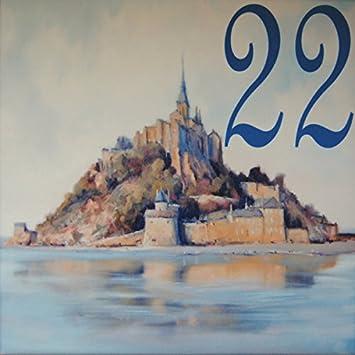 Azul Decor35 Plaque Numero De Rue Pas Chere En Faience Choisissez
