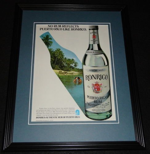 1979 Ronrico Puerto Rican Rum Framed 11x14 ORIGINAL Advertisement