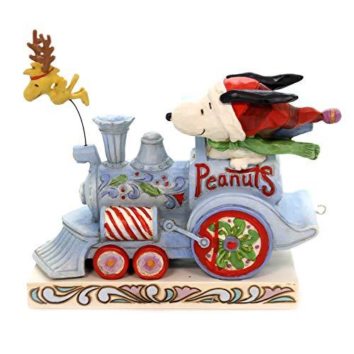Enesco Peanuts by Jim Shore Snoopy Woodstock Christmas Train