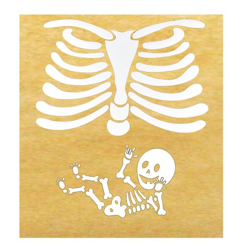 American Sign Language ILY Pregnant Skeleton Iron-on