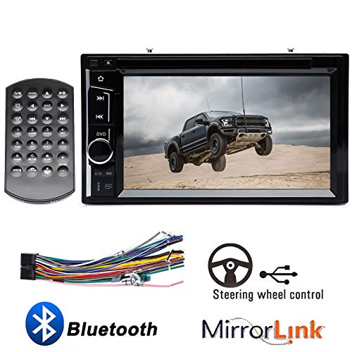 "Double Din Car Radio CD DVD Player with Touchscreen 6.2"" Bluetooth Mirrorlink Steering Wheel Control Aux Input Subwoofer Control for Ford F150 F250 F350 F450 F550 2004-2016 Super Duty"
