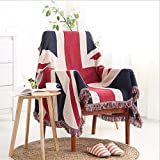 Lemonda Large Soft Multifunctional Double-side Warm Tassels Throw Blanket Carpet ,Table Cloth, Wall Hanging Tapestry, Beach Traveling Office Sofa Blanket 70 X 50 Inches (The Union Jack Flag)