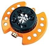 Dramm 10-15022 ColorStorm 9-Pattern Turret Sprinkler with Heavy-Duty Metal Base,Orange
