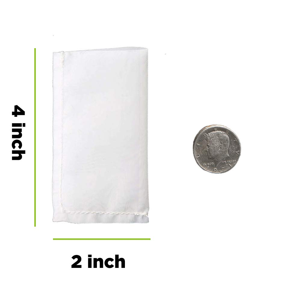 Rosin Press Bags 37 Micron 2in × 4in Double Stitched Patent Reusable micron screen Filter Bags,12 Pack.Zero Blowout Heat Resistant Durable 100% ...