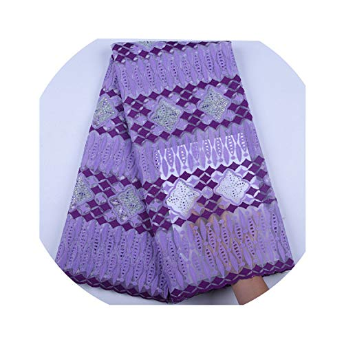 Lilac Color Milk Silk African Net Lace Fabric French Tulle Lace Fabric Nigerian Lace Fabric for Wedding Dress,As -