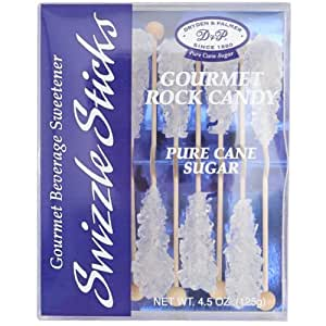 "White Rock Candy Swizzle Sticks - 5 3/4""L - Pack of 10"