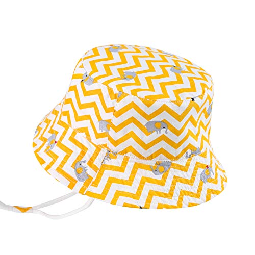 Toddler Girl Sun Hat with UPF 50+ Sun Protection, Adjustable Brim Hat with Chin Strap, 19.7