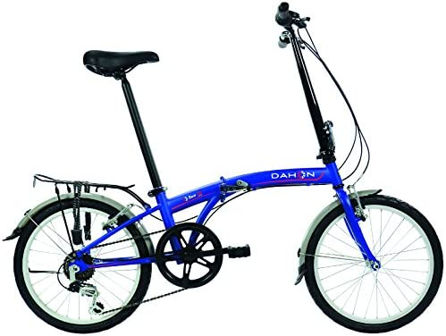 Dahon SUV D6 Bicicleta Plegable Mixta, Color Blue Suede, tamaño ...