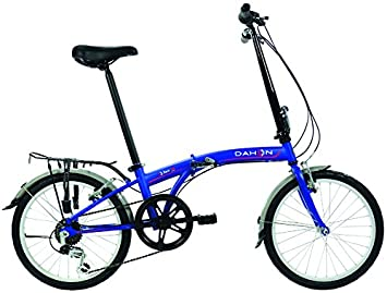 Dahon SUV D6 bicicleta plegable mixta, color Blue Suede, tamaño Taille 20