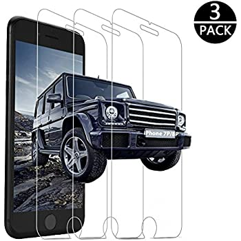 Yoyamo [3 Pack] Tempered Glass Screen Protector Clear 3D Touch Screen Protection Case Compatible iPhone 8 Plus/iPhone 7 Plus
