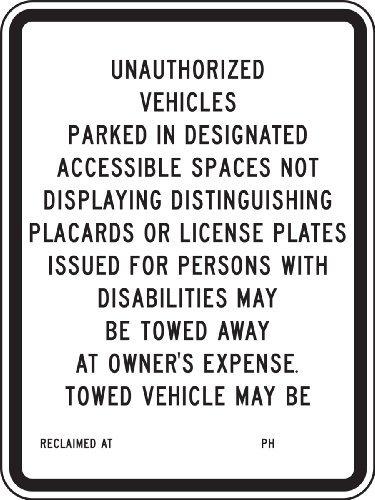 Aluminum Handicapped Parking Sign,