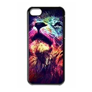 Lion The Unique Printing Art Custom Phone Case for Iphone 5C,diy cover case ygtg541258