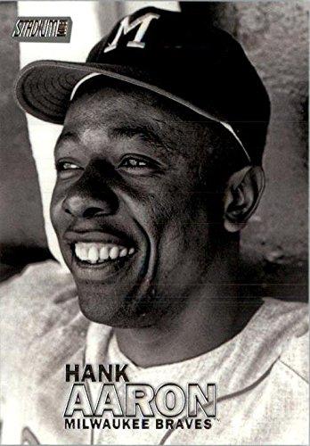 2016 Stadium Club Milwaukee Braves Baseball Card #75 Hank Aaron - Milwaukee Braves Stadium