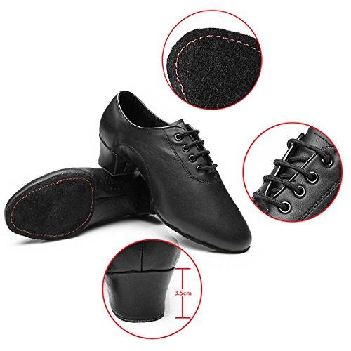 Hombres de Jazz Latina zapatos de baile negro suave parte inferior zapatos de baile moderno zapatos de baile