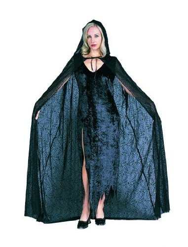 RG Costumes Spiderweb 56 Hooded Cape, Standard/One Size by RG Costumes (Spider Cape Web Hooded)