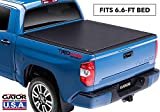 Gator ETX Soft Roll Up Truck Bed Tonneau Cover | 53413 | fits 07-19 Toyota Tundra with Track System, 6.6' Bed | Made in the USA