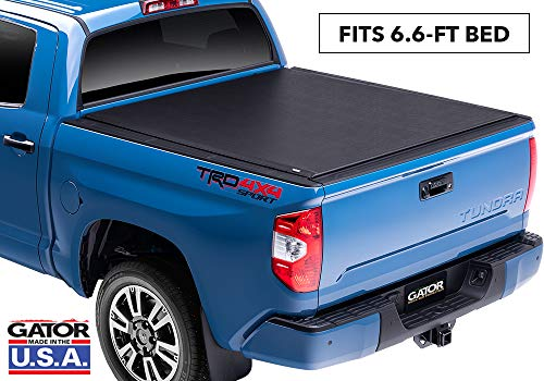 Gator ETX Soft Roll Up Truck Bed Tonneau Cover   53413   fits 07-19 Toyota Tundra with Track System, 6.6' Bed   Made in the USA