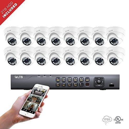 Platinum Digital Video (16 Channel LTS DVR + (16) x Platinum HD-TVI 2.1 Megaixel Turret Camera + 2TB HDD Package)