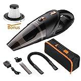 Homeleader Handheld Car Vacuum Cordless, 3.8KPA Replacement Percolator Top, Powerful Suction Handheld Vacuum Cleaner with Carry Bag