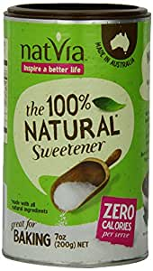 Natvia 100% Natural Sweetener, 7 Ounce Canister - 4 Pack