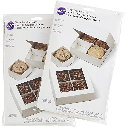 Wilton White Cookie Gift Boxes Multipack, 3-Count (2-Packs) - Covered Gift Box
