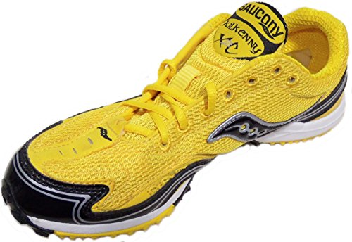 Saucony Women's Kilkenny XC2 Running Track Spike Shoes Yellow/Black (5.5)