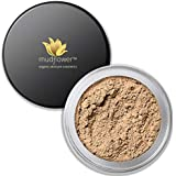 Mudflower Cosmetics Organic Powder Makeup Foundation, Tan Neutral, 1.0 ounce