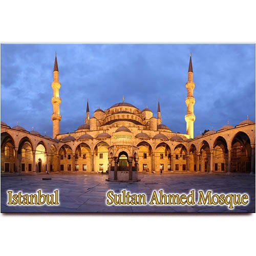 - Sultan Ahmed Mosque fridge magnet Blue Mosque Istanbul Turkey travel souvenir