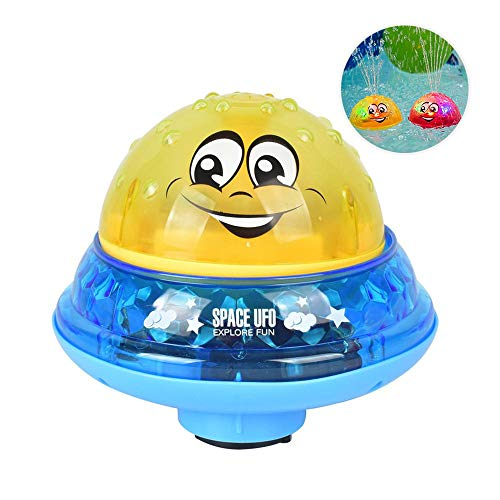 Spray Water Baby Bath Toy,Womdee Baby Bathtime Fun Toys,Rotating Spray Water Bath Toy with 2 Music and Flashing Lights Can Drifting Bathtub Shower Toys,Birthday Summer Gift for Toddlers Boys Girls