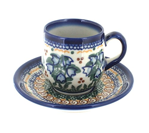 Polish Pottery Bluebell Espresso Cup & ()