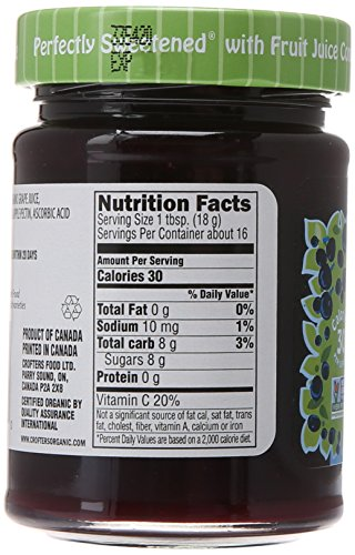 Crofters Organic Black Currant Just Fruit Spread, 10 oz by Crofters (Image #4)