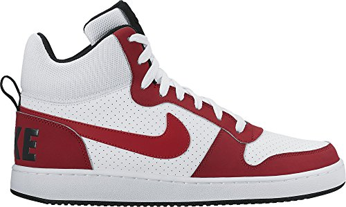 Nike Court Borough Mid, Scarpe da Basket Uomo White/Gym Red-black