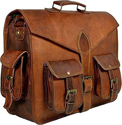 b7b5480844 Amazon.com  Leather Messenger Bag Men Shoulder S Satchel Laptop Briefcase  School (15 inch) (15 inch)  Computers   Accessories