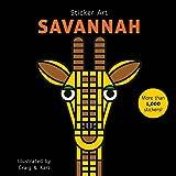 mosaic sticker by number - Sticker Art Savanna