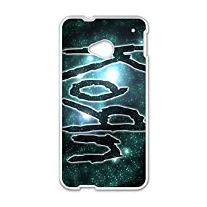 Personality customization TPU Case with Korn HTC One M7 Cell Phone Case White