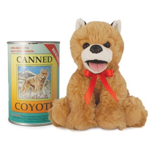 Canned Critters Stuffed Animal: Coyote (Coyote Plush)