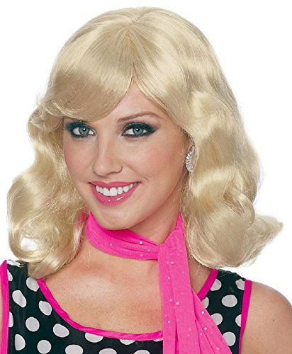 Costume Culture By Franco Llc 50'S Magic Adult Womens Wig Blonde One Size Fits Most for $<!--$23.99-->