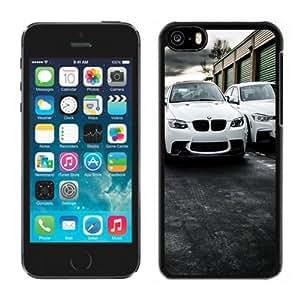 NEW Unique Custom Designed iPhone 5C Phone Case With White BMW Sport Cars_Black Phone Case