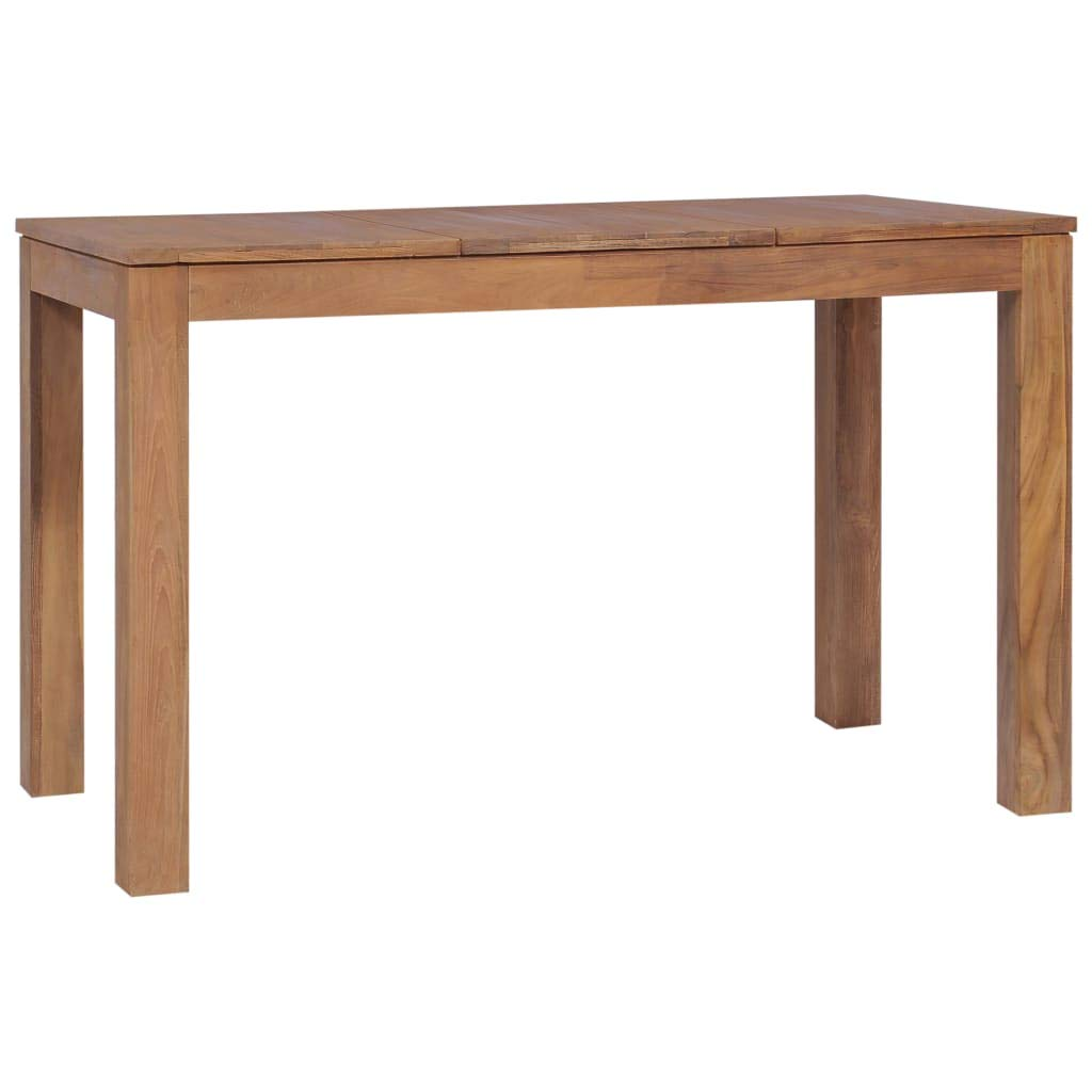 Festnight Wooden Dining Table Kitchen Dining Table Writng Table Computer Desk Kitchen Dining Room Table Furniture Solid acacia wood 120 x 60 x 76 cm