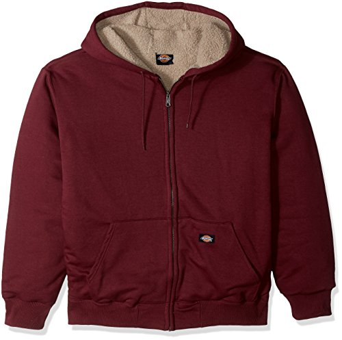 Dickies Men's Big and Tall Sherpa Lined Fleece, Burgundy, XXX-Large